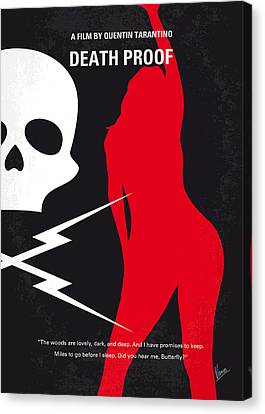 Death Proof Canvas Print - No018 My Death Proof Minimal Movie Poster by Chungkong Art