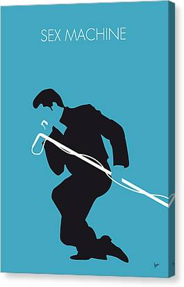 No018 My James Brown Minimal Music Poster Canvas Print