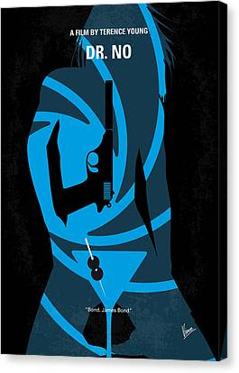 James Bond Canvas Print - No024 My Dr No James Bond Minimal Movie Poster by Chungkong Art