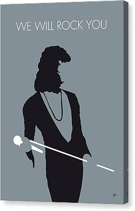 No027 My Queen Minimal Music Poster Canvas Print by Chungkong Art