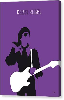No031 My Bowie Minimal Music Poster Canvas Print by Chungkong Art