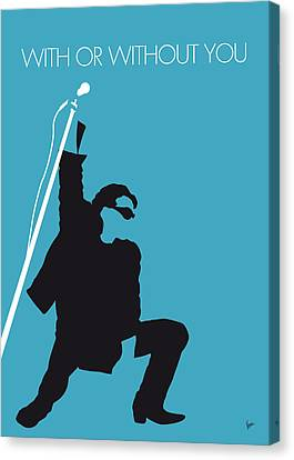 No035 My U2 Minimal Music Poster Canvas Print by Chungkong Art