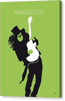 Destruction Canvas Print - No036 My Guns And Roses Minimal Music Poster by Chungkong Art