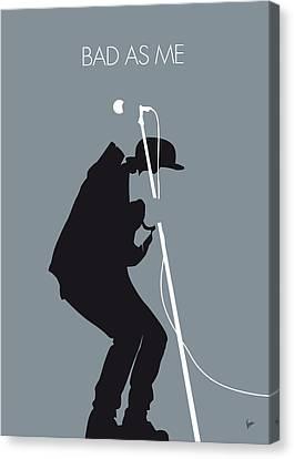 No037 My Tom Waits Minimal Music Poster Canvas Print