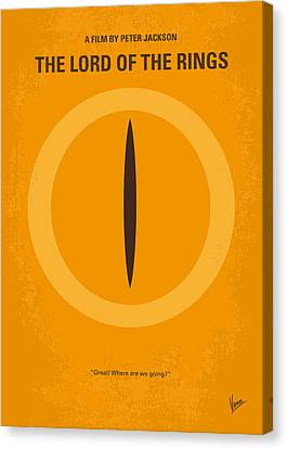 No039 My Lord Of The Rings Minimal Movie Poster Canvas Print by Chungkong Art