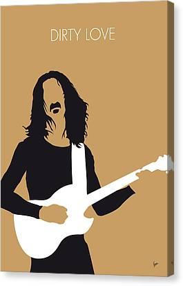 No040 My Frank Zappa Minimal Music Poster Canvas Print