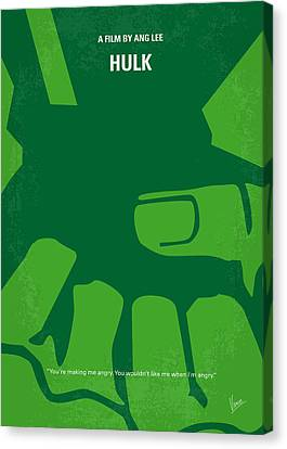 No040 My Hulk Minimal Movie Poster Canvas Print by Chungkong Art