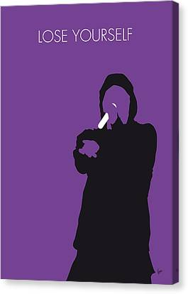 No041 My Eminem Minimal Music Poster Canvas Print by Chungkong Art