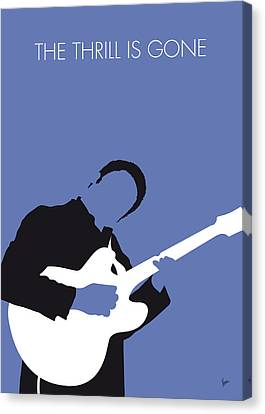 No048 My Bb King Minimal Music Poster Canvas Print by Chungkong Art
