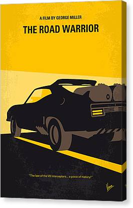 No051 My Mad Max 2 Road Warrior Minimal Movie Poster Canvas Print