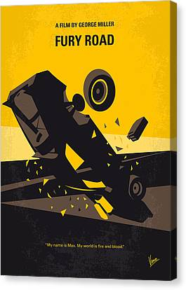 No051 My Mad Max 4 Fury Road Minimal Movie Poster Canvas Print by Chungkong Art