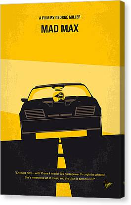 No051 My Mad Max Minimal Movie Poster Canvas Print
