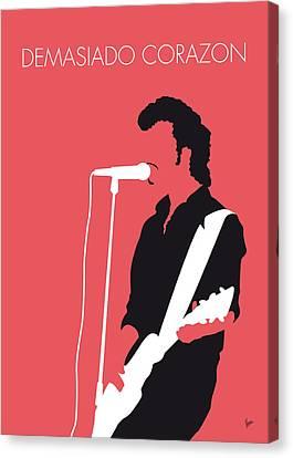 No052 My Mink De Ville Minimal Music Poster Canvas Print