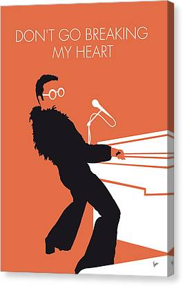 No053 My Elton John Minimal Music Poster Canvas Print by Chungkong Art