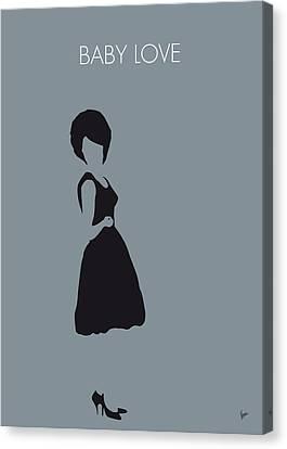 No057 My Diana Ross Minimal Music Poster Canvas Print