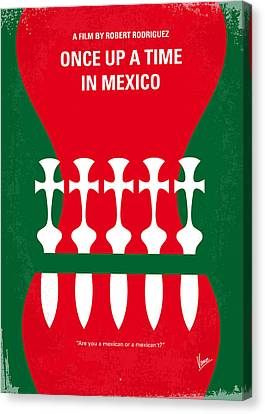 No058 My Once Upon A Time In Mexico Minimal Movie Poster Canvas Print by Chungkong Art
