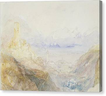 No.0588 Hospenthal, Fall Of St Canvas Print by Joseph Mallord William Turner
