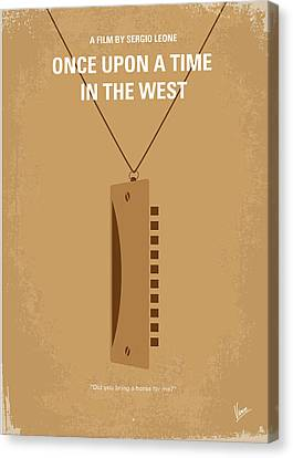 No059 My Once Upon A Time In The West Minimal Movie Poster Canvas Print by Chungkong Art