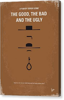 No090 My The Good The Bad The Ugly Minimal Movie Poster Canvas Print by Chungkong Art