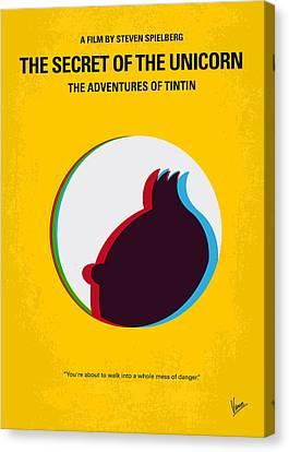 No096 My Tintin-3d Minimal Movie Poster Canvas Print by Chungkong Art