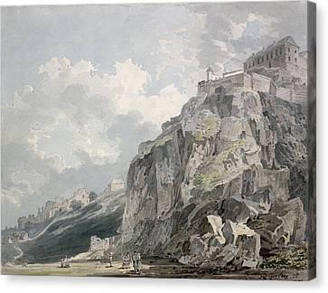 No.1187 The Castle Rock, Edinburgh Canvas Print by Thomas Girtin