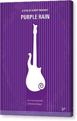 No124 My Purple Rain Minimal Movie Poster Canvas Print by Chungkong Art
