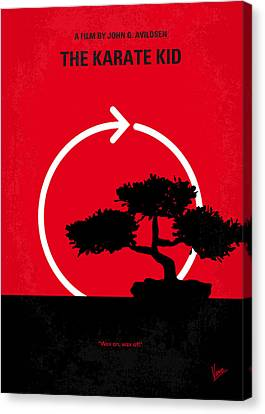 No125 My Karate Kid Minimal Movie Poster Canvas Print by Chungkong Art