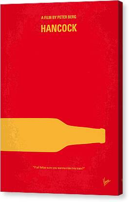 No129 My Hancock Minimal Movie Poster Canvas Print