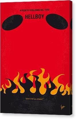 No131 My Hellboy Minimal Movie Poster Canvas Print by Chungkong Art