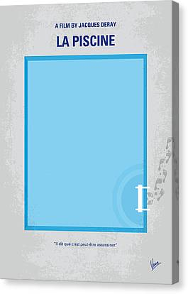 No137 My La Piscine Minimal Movie Poster Canvas Print by Chungkong Art