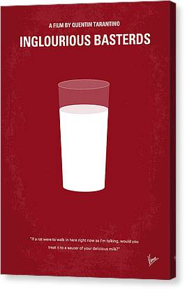 No138 My Inglourious Basterds Minimal Movie Poster Canvas Print