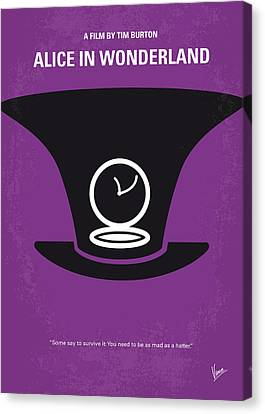 Johnny Depp Canvas Print - No140 My Alice In Wonderland Minimal Movie Poster by Chungkong Art
