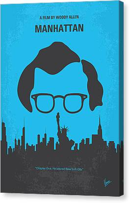 No146 My Manhattan Minimal Movie Poster Canvas Print by Chungkong Art