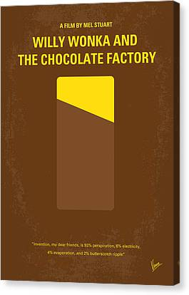 Chocolate Canvas Print - No149 My Willy Wonka And The Chocolate Factory Minimal Movie Poster by Chungkong Art