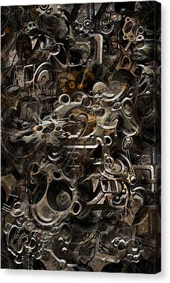 Canvas Print featuring the digital art No.16 by Andy Walsh