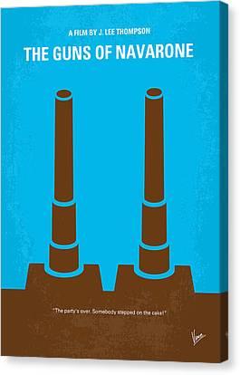 Greek Icon Canvas Print - No168 My The Guns Of Navarone Minimal Movie Poster by Chungkong Art