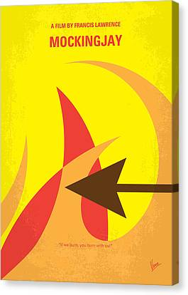 No175-3 My Mockingjay - The Hunger Games Minimal Movie Poster Canvas Print