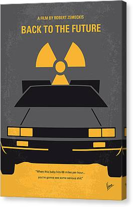 Movie Art Canvas Print - No183 My Back To The Future Minimal Movie Poster by Chungkong Art
