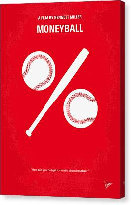 No191 My Moneyball Minimal Movie Poster Canvas Print by Chungkong Art