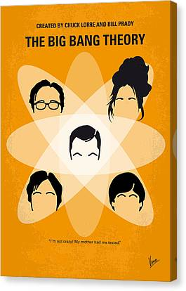 No196 My The Big Bang Theory Minimal Poster Canvas Print