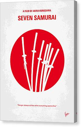 No200 My The Seven Samurai Minimal Movie Poster Canvas Print by Chungkong Art