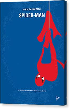 No201 My Spiderman Minimal Movie Poster Canvas Print