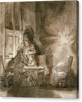 No.2139 Supper At Emmaus, C.1648-9 Canvas Print by Rembrandt Harmensz. van Rijn
