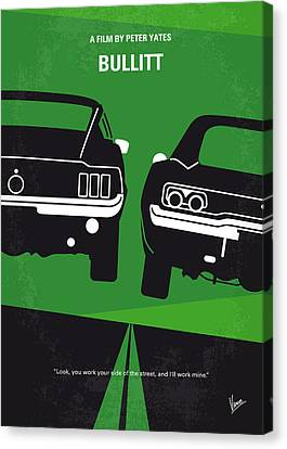 Movie Art Canvas Print - No214 My Bullitt Minimal Movie Poster by Chungkong Art