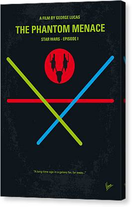 No223 My Star Wars Episode I The Phantom Menace Minimal Movie Poster Canvas Print by Chungkong Art