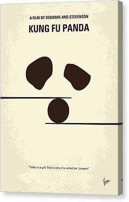Panda Canvas Print - No227 My Kung Fu Panda Minimal Movie Poster by Chungkong Art