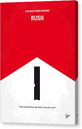 Crashing Canvas Print - No228 My Rush Minimal Movie Poster by Chungkong Art