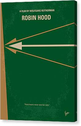 No237 My Robin Hood Minimal Movie Poster Canvas Print