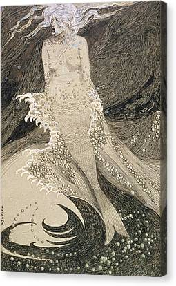 The Mermaid Canvas Print by Sidney Herbert Sime