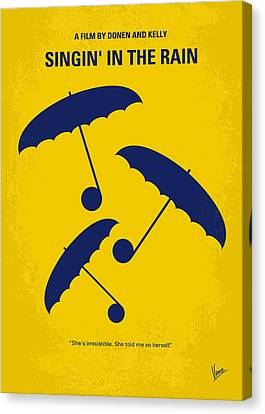 No254 My Singin In The Rain Minimal Movie Poster Canvas Print by Chungkong Art